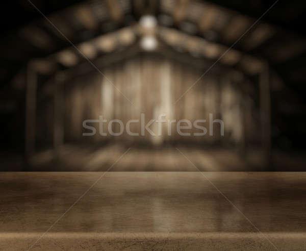 столе старые интерьер древесины Сток-фото © Avlntn