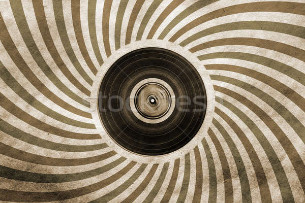 Vintage musical vinyl lp muziek papier Stockfoto © Avlntn