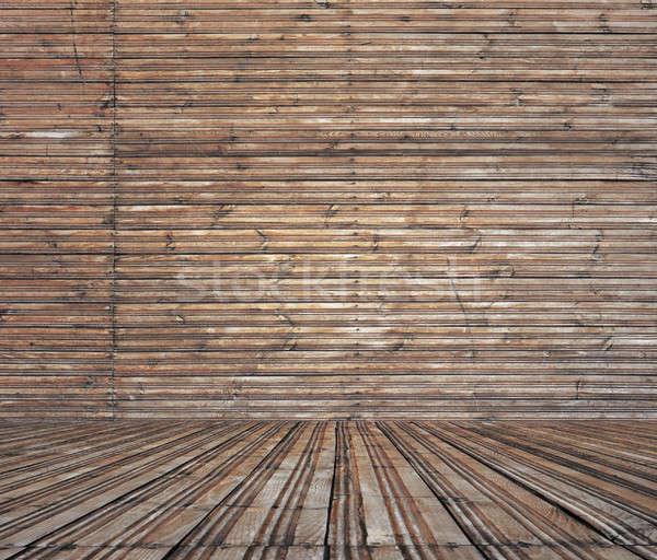 Bağbozumu eski oda ahşap duvar zemin Stok fotoğraf © Avlntn