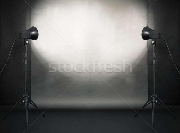 写真 スタジオ 古い グランジ ルーム 具体的な ストックフォト © Avlntn