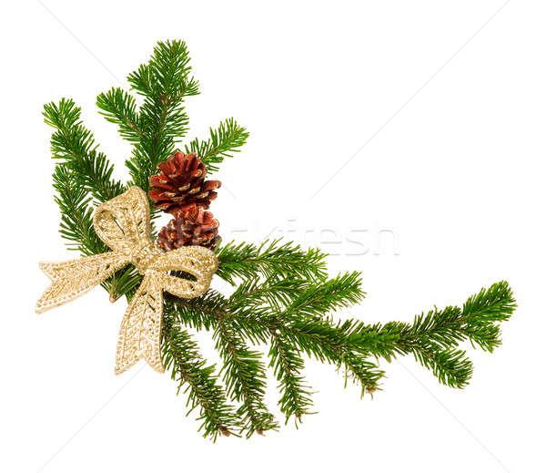 Stock photo: christmas decoration isolated