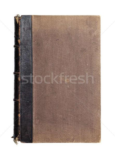 Starej książki odizolowany biały papieru książki Zdjęcia stock © Avlntn