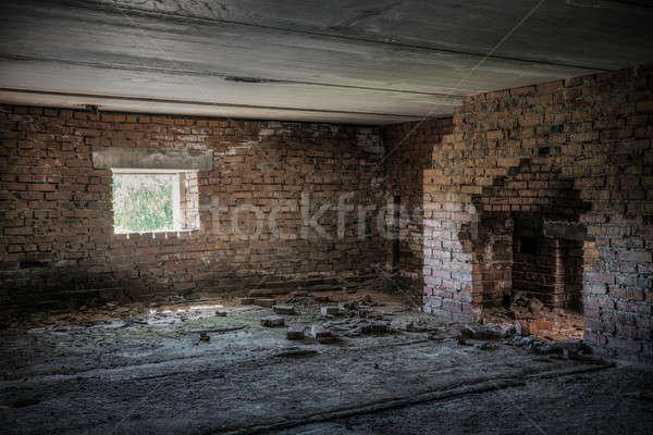 старые заброшенный здании интерьер стены Сток-фото © Avlntn