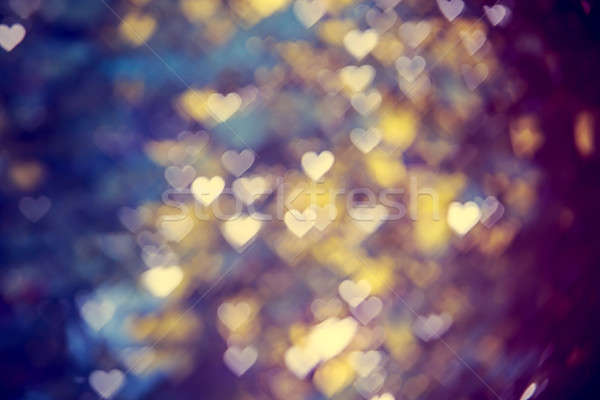Bokeh harten wazig hart licht achtergrond Stockfoto © Avlntn