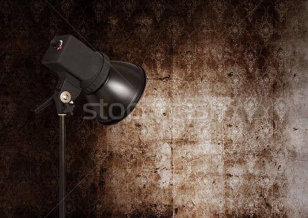 Spot ışık Retro duvar kağıdı duvar dizayn Stok fotoğraf © Avlntn