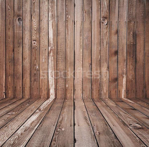старые комнату стены этап полу Сток-фото © Avlntn