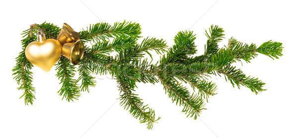 クリスマス 装飾 孤立した 白 ツリー 中心 ストックフォト © Avlntn