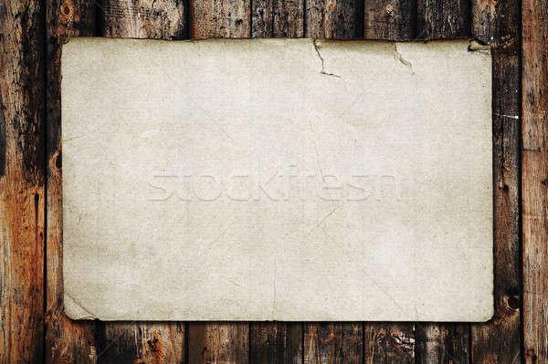 Foto stock: Papel · madera · vieja · textura · vintage · libro · madera