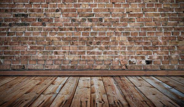 Oude kamer muur vintage huis hout Stockfoto © Avlntn
