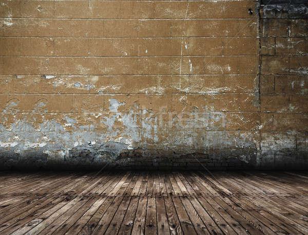 Eski iç grunge bağbozumu ev duvar Stok fotoğraf © Avlntn