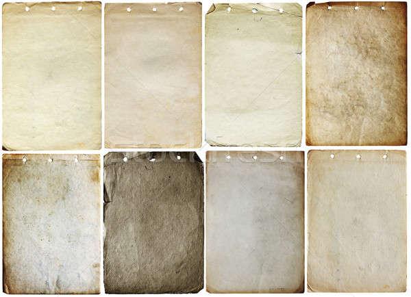 古い 論文 セット 孤立した 白 ストックフォト © Avlntn