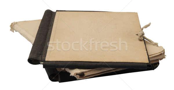 ストックフォト: スタック · 古い · フォルダ · 孤立した · 白