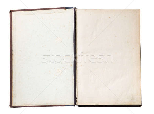 Starej książki otwarte odizolowany biały książki Zdjęcia stock © Avlntn
