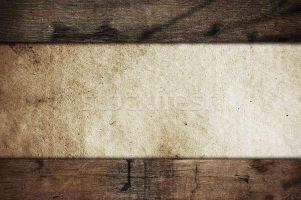 Foto stock: Vintage · edad · papel · textura · pared