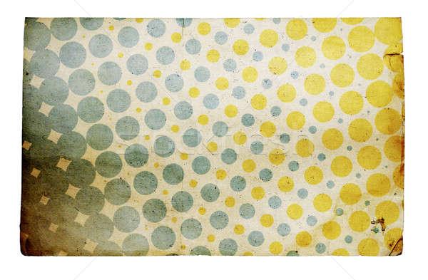 Retro isolato texture abstract verde blu Foto d'archivio © Avlntn