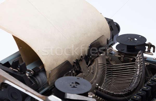 ヴィンテージ タイプライター 古い 紙 技術 スペース ストックフォト © Avlntn