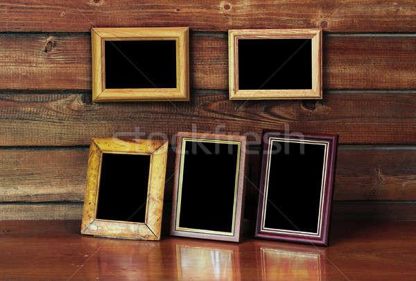 old photo frames Stock photo © Avlntn