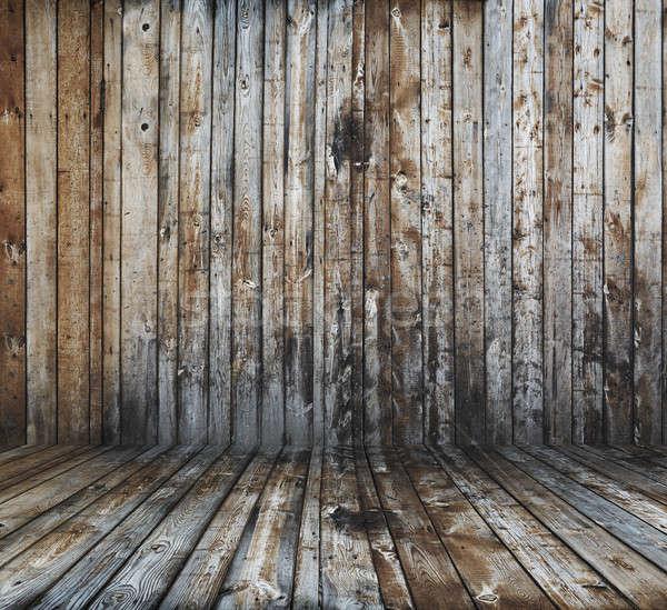 старые Гранж интерьер стены комнату Сток-фото © Avlntn