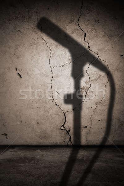 интерьер тень микрофона старые стены музыку Сток-фото © Avlntn