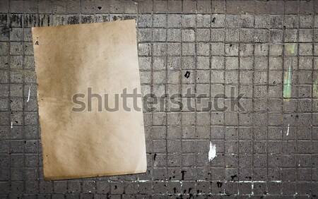 wall and paper background  Stock photo © Avlntn