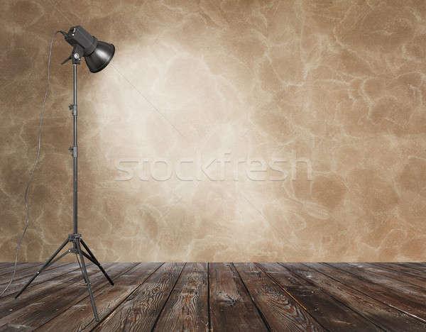 Fotó stúdió öreg grunge szoba fal Stock fotó © Avlntn