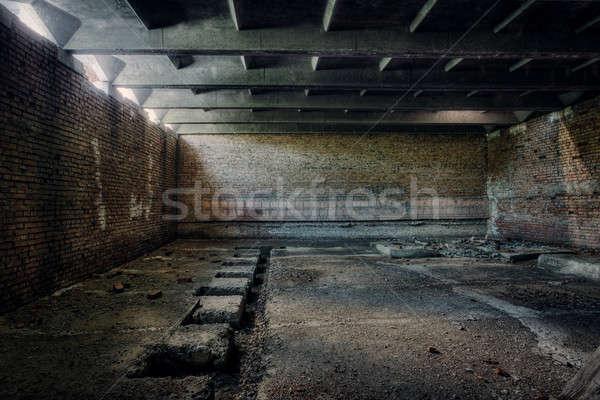 ストックフォト: 古い · 捨てられた · 建物 · インテリア · 壁