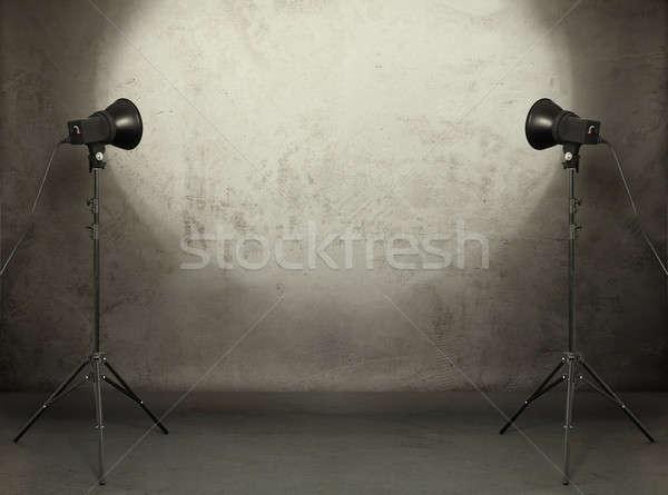 фото студию старые Гранж комнату конкретные Сток-фото © Avlntn