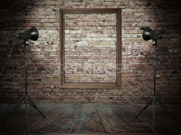 комнату Vintage студию ретро стены Сток-фото © Avlntn
