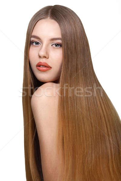 девушки долго волос красивая девушка природного Сток-фото © Avlntn