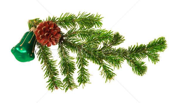 Рождества украшение изолированный белый дерево фон Сток-фото © Avlntn