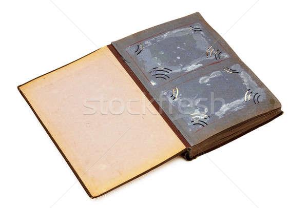 Vieja foto álbum aislado blanco libro fondo Foto stock © Avlntn