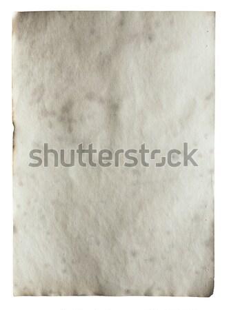 古い紙 孤立した 白 抽象的な 背景 ストックフォト © Avlntn