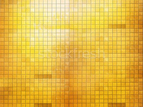 Gouden mozaiek muur goud abstract kleur Stockfoto © Avlntn