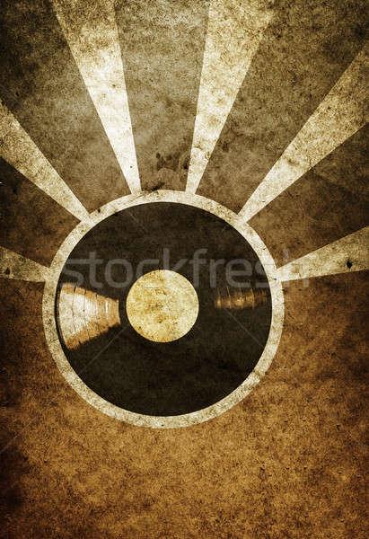 Musical vintage vinyl lp papier abstract Stockfoto © Avlntn