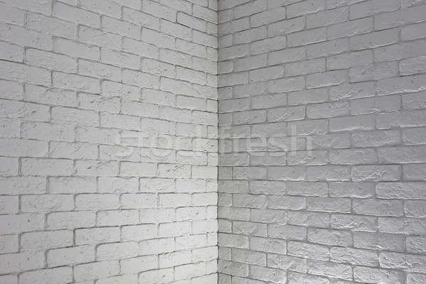 Bianco muro di mattoni grigio texture muro Foto d'archivio © Avlntn