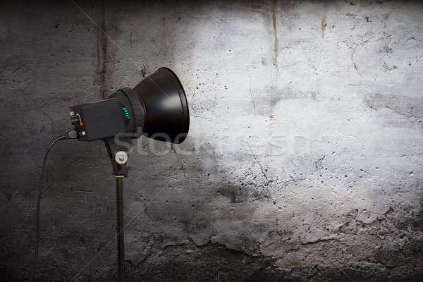 Spot ışık beton duvar kentsel uzay Stok fotoğraf © Avlntn