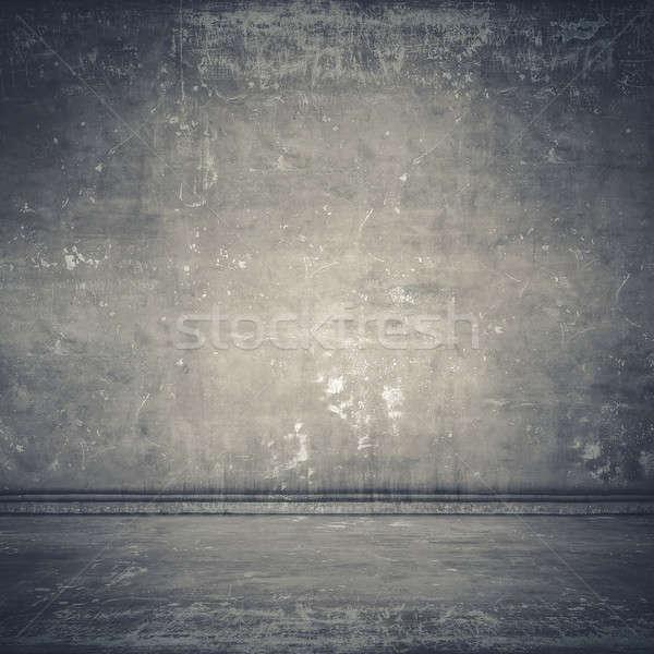 пустой комнате конкретные стены серый текстуры аннотация Сток-фото © Avlntn