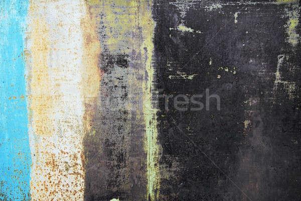 メタリック さびた 抽象的な 塗料 金属 赤 ストックフォト © Avlntn