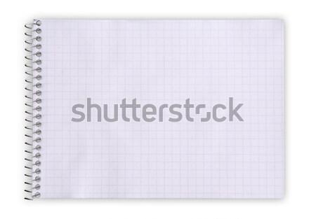 Notebook isolato bianco carta anello Foto d'archivio © Avlntn