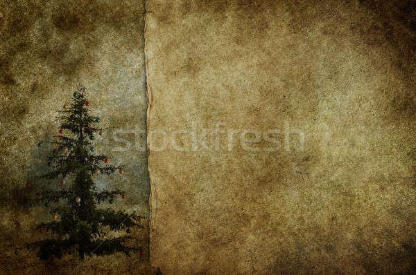 レトロな 古い紙 紙 雪 フレーム ストックフォト © Avlntn