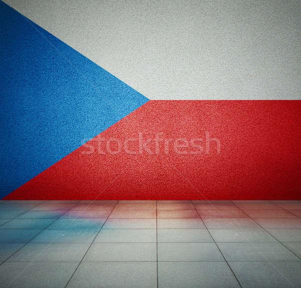 Bandeira quarto vazio República Checa parede estúdio casa Foto stock © Avlntn