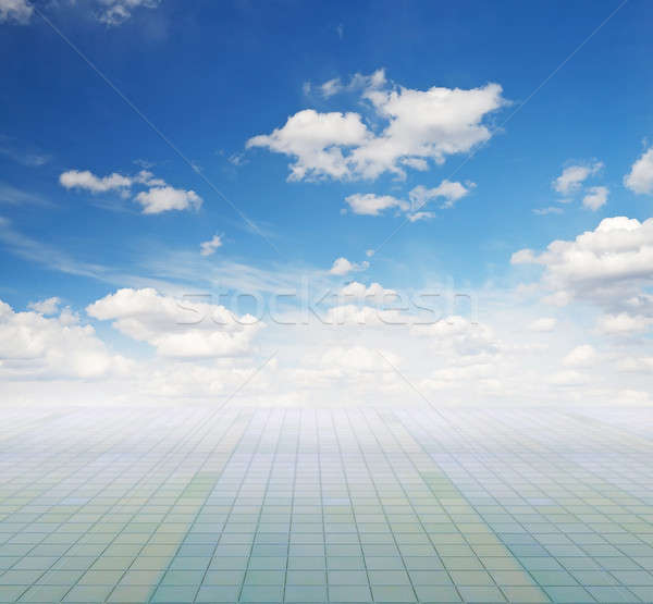 Hemel vloer blauwe hemel wolken ruimte Blauw Stockfoto © Avlntn