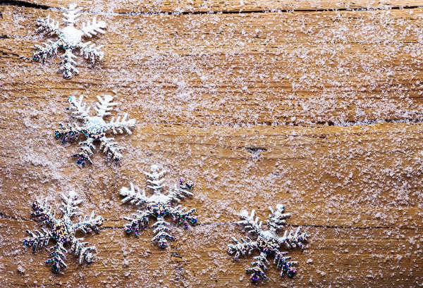 雪 雪 木製 幸せ 背景 カード ストックフォト © Avlntn