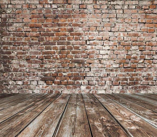 старые комнату кирпичная стена Vintage дома стены Сток-фото © Avlntn