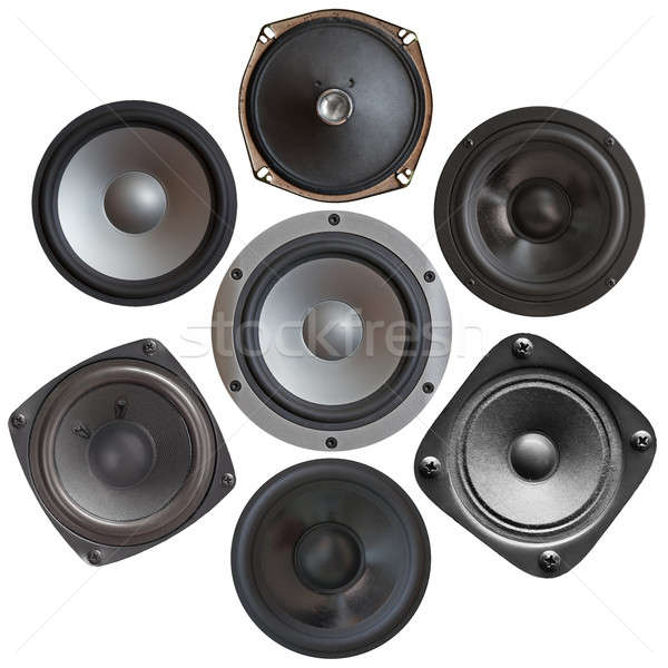 set of sound speakers Stock photo © Avlntn