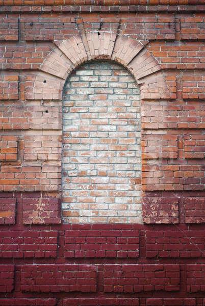 ストックフォト: アーキテクチャ · アーチ · レンガの壁 · 空っぽ · ウィンドウ