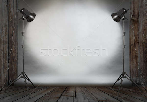 фото студию старые комнату конкретные Сток-фото © Avlntn