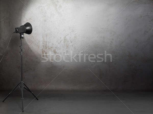 photo studio in old grunge room Stock photo © Avlntn