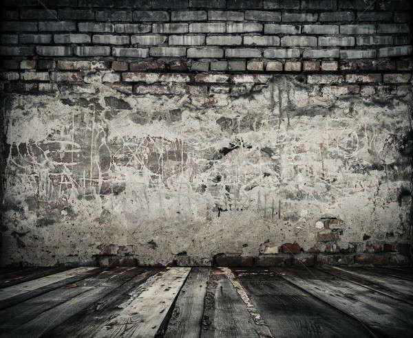 old room with brick wall Stock photo © Avlntn