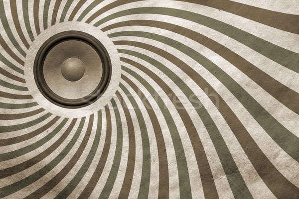 Bağbozumu müzikal ses konuşmacı kâğıt doku Stok fotoğraf © Avlntn